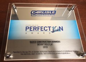 Radco Awarded Carlisle Perfection Award