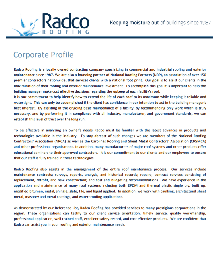 Radco Corporate Profile