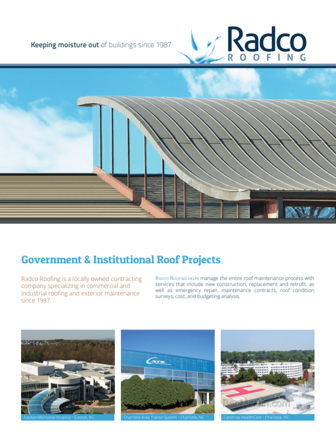 Government and institutional roof projects