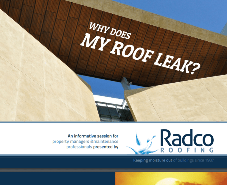 Radco Roofing - Why does my roof leak - Article